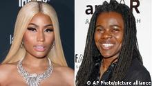 Bildkombo Nicki Minaj Sued und Tracy Chapman