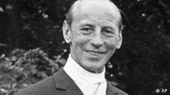 Founder of the German Sport Aid Federation Josef Neckermann