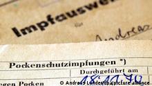 DDR: iskaznica u koju se dokumentirala obavljena vakcinacija