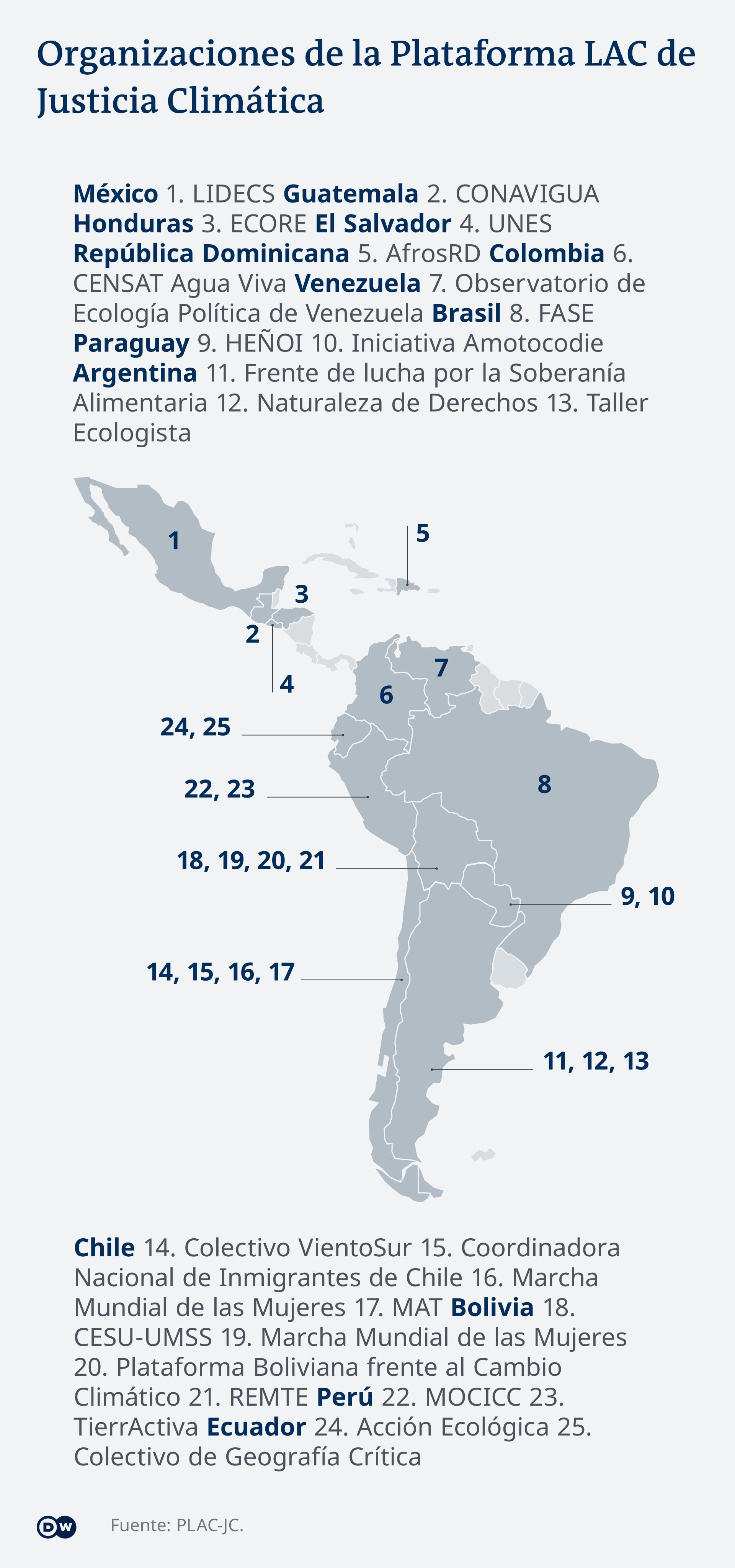 Infografik Karte PLAC ES