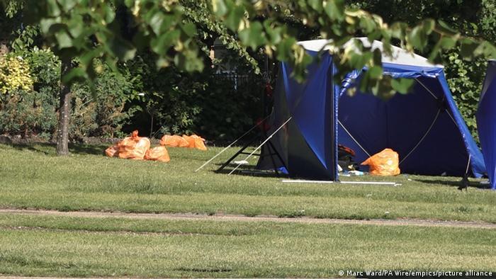 باغ های Forbury ، در مرکز شهر ریدینگ ، صحنه حمله مکرر چاقوکشی