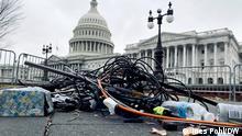 Washington Zerstörtes Journalisten Equipment nach Capitolsturm 01/2021