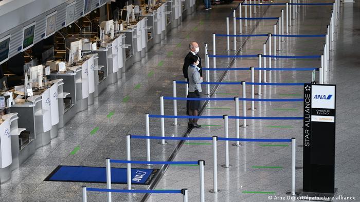 Frankfurt Havalimanı'nda havayolu şirketlerinin boş kontuarları