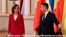 Ukraine Treffen Wolodymyr Selenskyj und Maia Sandu