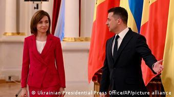 Майя Санду и Владимир Зеленский (Киев, 12 января 2021 года)