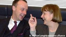 Deutschland Friedrich Merz und Angela Merkel 2000