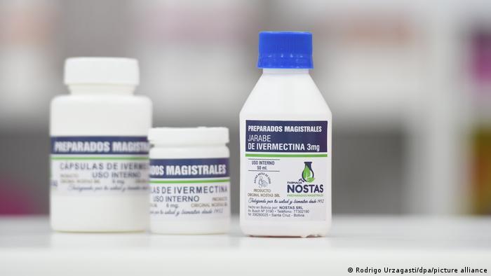 Frascos do medicamento ivermectina