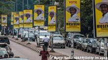 Uganda Kampala | Präsidentschaftswahl: Wahlplakate