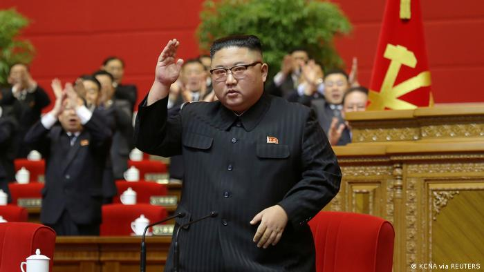 North Korean leader Kim Jong Un at the Workers' Party congress in Pyongyang