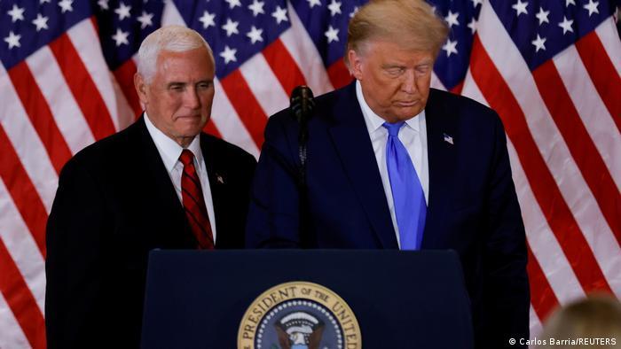 USA US-Vizepräsident Mike Pence und Donald Trump