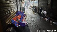 Indien Obdachloser in Delhi