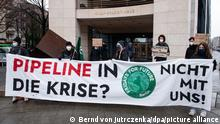 Deutschland Berlin Fridays for Future Protest gegen Gaspipeline Nord Stream 2