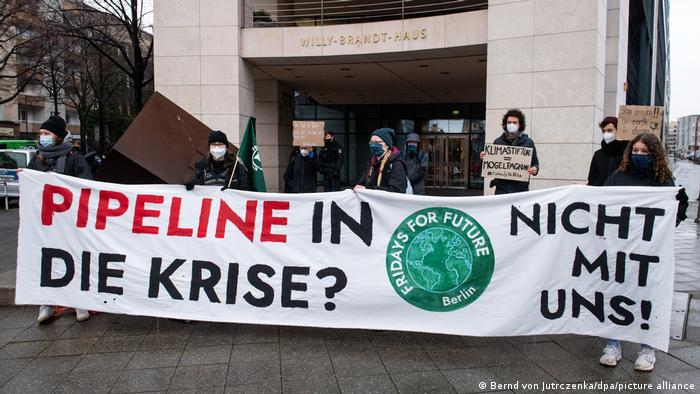 Berlin Fridays for Future Protesters against Nord Stream 2