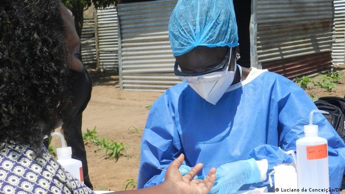 Mosambik Coronavirus Corona-Test