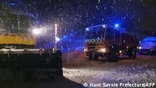 Frankreich I Stau im Schnee auf der A40