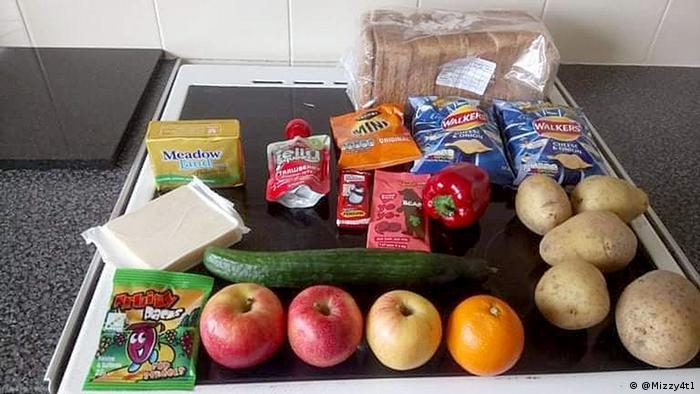 UK food parcel