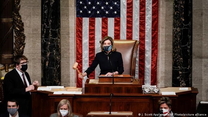 A presidente da Câmara dos Representantes dos EUA, Nancy Pelosi