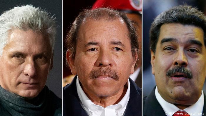 Foto de Miguel Diaz-Canel, Daniel Ortega y Nicolás Maduro