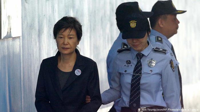 Park Geun-hye and police officers