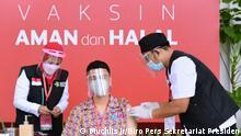 Indonesien Raffi Ahmad Covid-19 Impfung