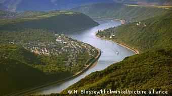 Deutschland Rhein - Luftbild von Bad Salzig