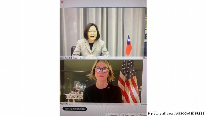 USA Taiwan Diplomatie l UN-Botschafterin spricht mit Taiwans Präsidentin