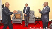 Tansania Chato | Treffen John Pombe Magufuli & Hussein Ali Mwinyi & Shariff Hamad