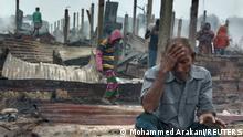 Bangladesch l Abgebranntes Flüchtlingscamp von Rohingyas