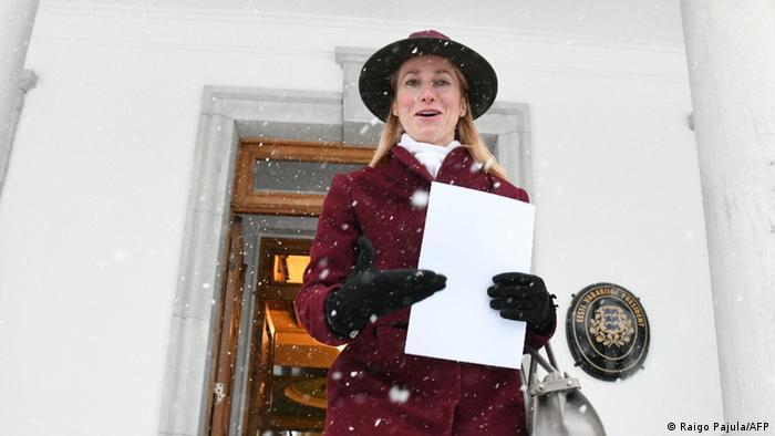 Esland Politik l Kaja Kallas als Regierungschefin nominiert