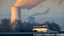Smoke rises from a coal plant in Duisburg, Germany