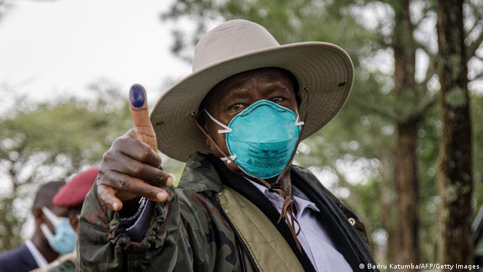 Uganda Wahlen Yoweri Museveni