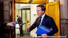 Den Haag Kabinettssitzung Regierungskrise Marc Rutte