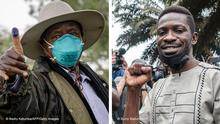Bildkombo | Yoweri Museveni und Bobi Wine