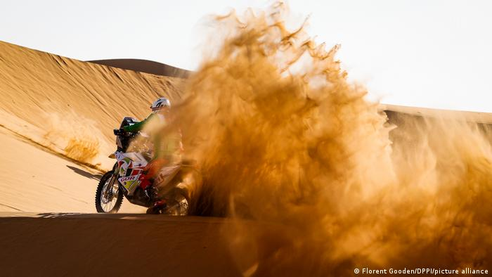 Pierre Cherpin during the 2nd stage of the Dakar 2021
