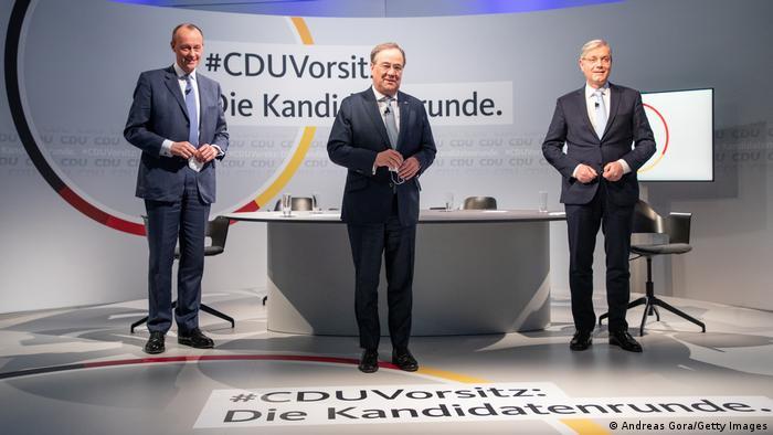 Kandidati za stranačkog šefa: Merc, Lašet, Retgen