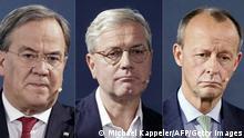 Deutschland CDU-Vorsitz Kandidaten Laschet Röttgen Merz