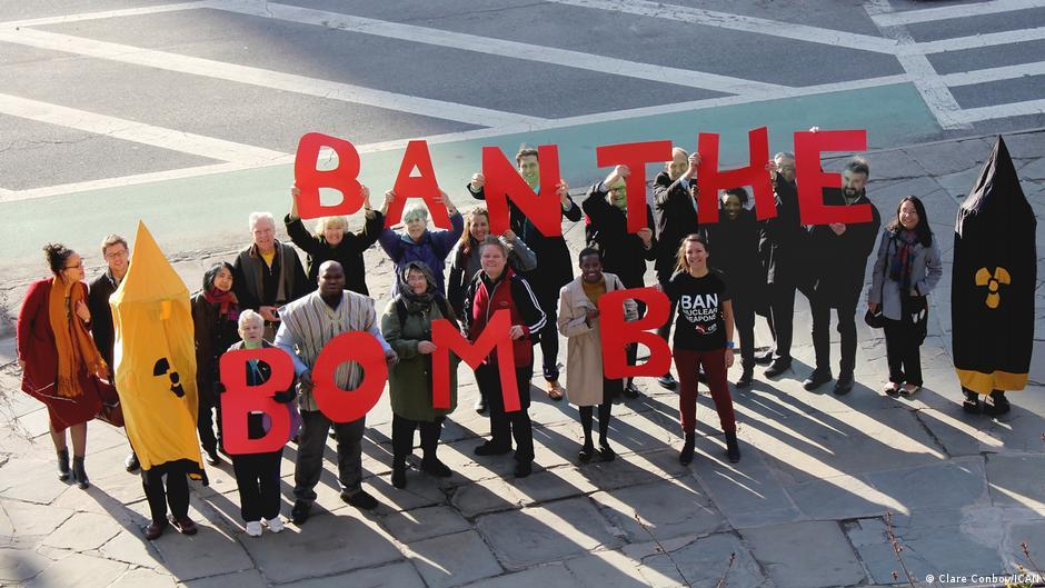 USA Demo zur Unterstützung des Atomwaffenverbotsvertrags in New York