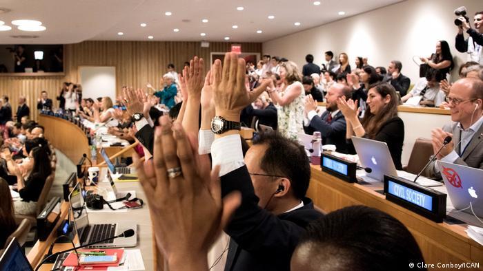 UN der Atomwaffenverbotsvertrag wird angenommen, New York