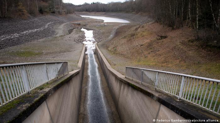 Wuppertalsperre Niedrigwasser Winter 2020