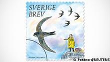 Schweden Emission Greta Thunberg Briefmarken Serie