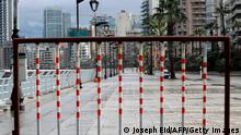 Lebanon's deserted promenade during the latest lockdown, which started last Thursday