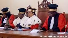 Zentralafrikanischen Republik I Richter des Verfassungsgerichtes in Bangui