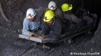 Pakistan Kohlemine Minenarbeiter