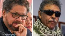 Kombobild | ehemalige FARC-Mitglieder | Ivan Márquez & Jesus Santrich aus Kolumbien