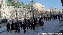 Russland, Chabarowsk, Sergej Furgal, Protestaktion, Polizei