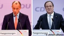 Bildkombo CDU Vorsitz Stichwahl Merz Laschet