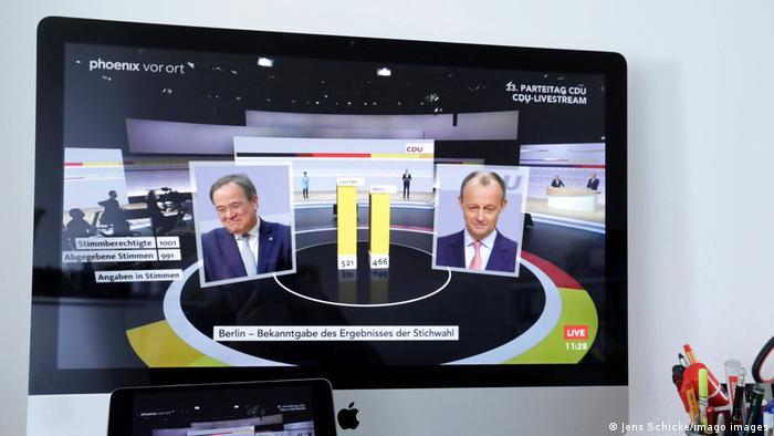 Digitaler Parteitag CDU Livestream Ergebnis Stichwahl
