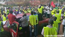Beschreibung 1 und 2: Public officers protest against the Government of Guinea Bissau