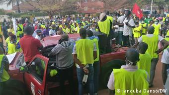 Protesto de trabalhadores na Guiné-Bissau