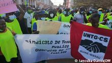 Protest gegen die Regierung Guinea Bissau
